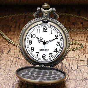YXYOL Classique Retro Pocket Watch, Antique Big Size Aigle Pocket Watch, Memorial Table Retro Bronze Montres Collier Pendentif Cadeau pour Les Femmes et Les Hommes